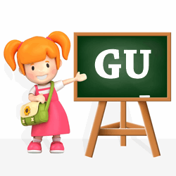Girls names beginning with GU