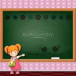 Girls Name - Burgundy