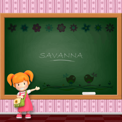 Girls Name - Savanna
